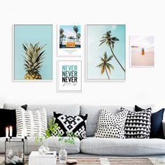 Pineapple Cactus Coconut Tree Posters And Prints Nordic Poster Wall Picture Canvas Art Canvas Pictures For Living Room Unframed #walldecor #interiordesigner #homedecor #wallartprints #artdecor #artprint #canvasphotoprints #wallartdecor #wallpainting