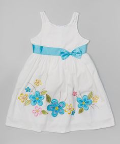 Look at this Turquoise & Yellow Flower Dress - Toddler & Girls on #zulily today!