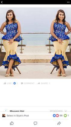 Best Ankara Styles of the Week African Attire, African Wear, African Fashion Dresses, African Dress, Africa Fashion, Ethnic Fashion, Womens Fashion, African Inspired Clothing, Church Fashion