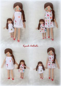 Doll and mini doll Soft Dolls, Doll Clothes, Disney Characters, Fictional Characters, Mary, Photo And Video, Disney Princess, Handmade, Instagram