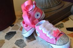 PINK PRINCESS Crown Infant Baby Girl Converse by angelareesestudio