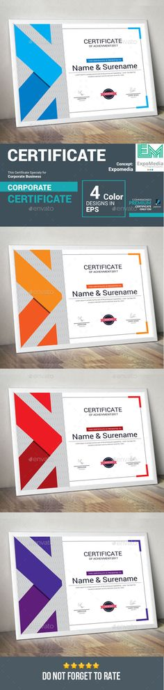 Certificate Template Vector EPS. Download here: https://graphicriver.net/item/certificate/17264559?ref=ksioks