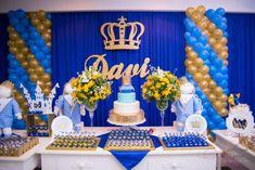 Prince Birthday Theme, Princess Birthday Party Decorations, Baby Boy 1st Birthday Party, Mermaid Theme Birthday, Baby Shower Themes, Baby Shower Decorations, Royal Baby Party, Prince Party, Royal Baby Showers