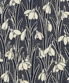 Hesketh is a Liberty Print inspired by an Art Nouveau furnishing fabric printed in cotton 54 inches wide priced by yard Motifs Art Nouveau, Design Art Nouveau, Art Nouveau Pattern, Art Nouveau Flowers, Motifs Textiles, Textile Patterns, Print Patterns, Floral Patterns, Boho Pattern