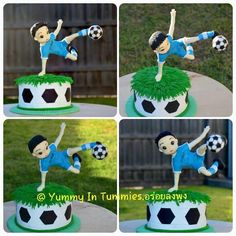 Soccer player cake. - cake by Yummy In Tummies. - CakesDecor