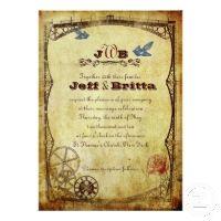 Victorian Steampunk Wedding Invites