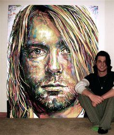 Kurt Cobain  by Artist Cole Kluesner