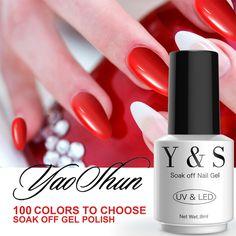 Red Color UV Soak Off Gel Polish Long Lasting Led Gel Varnish DIY Nail Art Gel Lacquer #Affiliate
