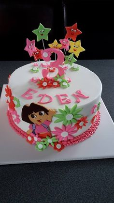 Dora Cake. Cake by Homemade By Hollie.