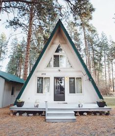 I can't stop looking at these cute A-Frame houses. I love them!