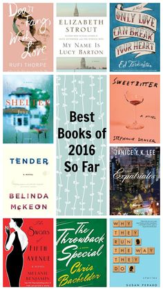 My favorite books of 2016 through the first half of the year!