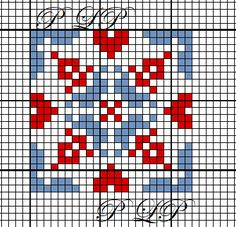 Petit Carré n 44 - Lin Pulsion Cross Stitch Heart, Cross Stitch Borders, Cross Stitch Designs, Cross Stitching, Cross Stitch Embroidery, Cross Stitch Patterns, Silk Ribbon Embroidery, Hand Embroidery Patterns, Cross Stitch Geometric