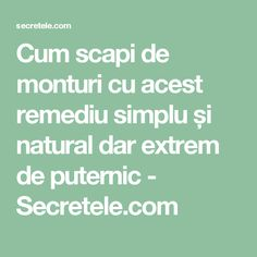 Cum scapi de monturi cu acest remediu simplu și natural dar extrem de puternic - Secretele.com Health Remedies, Alter, Metabolism, Good To Know, Health Care, Health Fitness, Pandora, Fashion, Medicine