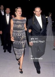 Sharon Stone and Michael Stone during 1994 Vanity Fair Oscar Party - Arrivals at Morton's Restaurant in West Hollywood