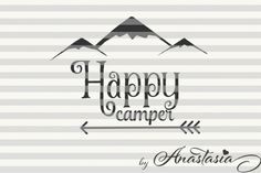 FREE SVG File: Happy Camper SVG Cut File By TheHungryJPEG