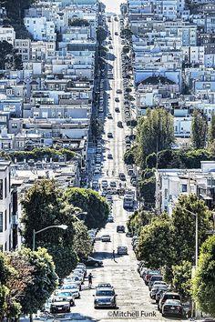 Sunlight On The Street On Telegraph Hill San Francisco