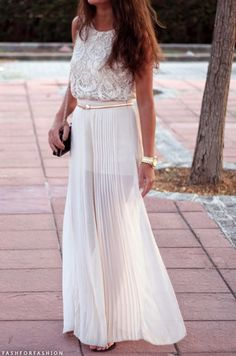 Super cute spring to summer maxi white and flowy