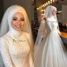 Muslim Wedding Gown, Wedding Hijab, Red Wedding Dresses, Wedding Bridesmaids, Wedding Gowns, Bridesmaid Dresses, Muslim Fashion, Hijab Fashion, Simple Hijab