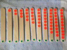 Holzzählerei bis 10 von Lernmittel hausgemacht auf DaWanda.com