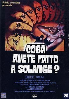 Directed by Massimo Dallamano.  With Fabio Testi, Cristina Galbó, Karin Baal, Joachim Fuchsberger. A teacher who is having an affair with one of his students takes her out on a boat. They see a knife killing on shore. Other gruesome murders start occurring shortly thereafter, and the teacher suspects that he may be the cause of them.