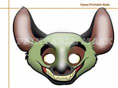 Unique Hyena Printable Mask costumes party por AmazingPartyShop
