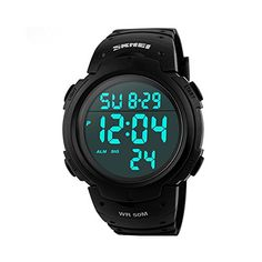 Mens Military Digital Sport Watch Waterproof Outdoor Electronic Army LED Back Light Display Alarm Stopwatch 50M Water Resistant for Children Kids Boy  Black http://ift.tt/2jO0r29