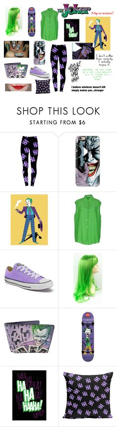 """""""The Joker"""" by jkl610 ❤ liked on Polyvore featuring Casetify, jared, DC Shoes, Acne Studios and Converse"""