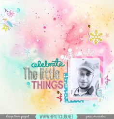 This layout was created for the Hip Kit Club, using the November 2016 kits. You can find more detailsinthe process video on my YouTube channel.