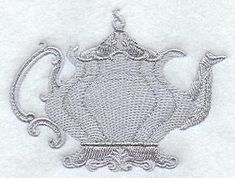 Fancy Teapot 1 design (G1607) from www.Emblibrary.com