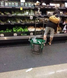 Yeah. She pulled it behind her the entire time. #funny #lol #humor