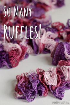 Ruffles Yarn Crochet Scarf Tutorial #crochetaday