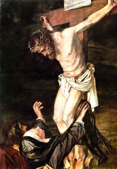 3. This picture the viewer would use context to figure out that  this is Jesus on the cross and that is Mary reaching up to him. If you didn't use the context then you wouldn't know the meaning of the picture and its significance.