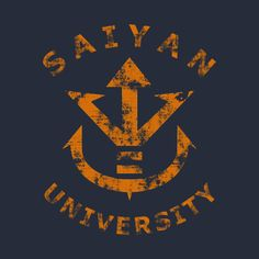 Check out this awesome 'Saiyan+University+%28gold%29' design on @TeePublic!