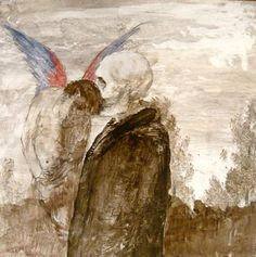 """Miles Cleveland Goodwin, """"Skeleton Whispering to an Angel"""", 2012."""