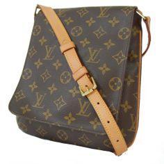 EXCELLENT! LOUIS VUITTON Monogram MUSETTE SALSA LV Shoulder Bag Sac Authentic
