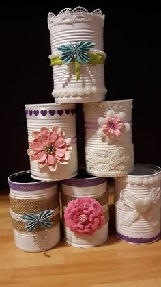 carterie pergamano et tableaux Page 4 Tin Can Crafts, Diy Home Crafts, Diy Crafts To Sell, Crafts For Kids, Paper Crafts, Mason Jar Crafts, Bottle Crafts, Tin Can Art, Recycle Cans