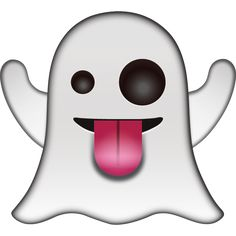 Say boo in a playful way with this friendly ghost that has silly eyes and his tongue poking out!
