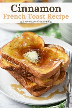 My favorite French toast recipe is so easy to make. Classic cinnamon breakfast treat that's oh so delicious. How to make the best French toast ever! #frenchtoast #breakfast #brunch #breakfastrecipes #easyrecipe #sweet #recipe #recipeideas #cooking