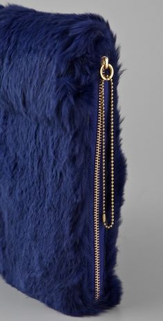 3.1 Phillip Lim | Rabbit Fur iPad Case | side