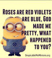 For the love of minions here are some best Most hilarious Funny Minions Picture Quotes . ALSO READ: Minion Birthday Meme ALSO READ: Top 20 funny pumpkin faces Funny Minion Pictures, Funny Minion Memes, Cute Minions, Minions Quotes, Funny Texts, Funny Jokes, Hilarious, Minion Sayings, Minion Stuff