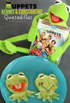 Muppets Most Wanted Kermit & Constantine Fun Food Idea - Kermit Quesadillas Disney Diy, Disney Crafts, Edible Crafts, Fun Crafts, Cute Food, Good Food, Muppets Most Wanted, Sesame Street Muppets, The Muppet Show