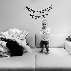 #Wordbanner #tip: Born to be loved - Buy it at www.vanmariel.nl - € 11,95, 2 for € 20