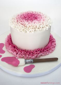 Happy Birthday to a Rising Artist    http://sweetflamingo.com/cakes/20120215/happy-birthday-to-a-rising-artist/
