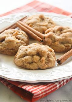 These Appledoodle Cookies are an apple version of the snickerdoodle. With pudding mix in the batter they are incredibly soft and full of apple cinnamon flavor. The outside is slightly crisp from the cinnamon sugar coating. These might be my new favorite cookie!