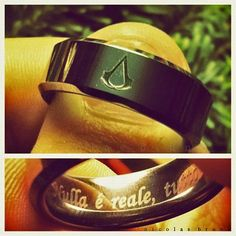 Chris'' Assassin's Creed ring.