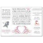 Trouwkaart: Vintage Uitnodiging (Drieluik) - Wedding Designs