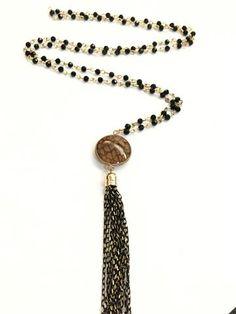 La Bella Donna - Μοντερνα κολιε ροζαριο με καφε πετρα - Κολωνος Statement Jewelry, Beaded Bracelets, Fashion, Moda, Fashion Styles, Pearl Bracelets, Fashion Illustrations, Seed Bead Bracelets, Pearl Bracelet