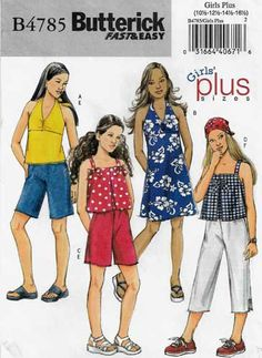 Tween Teen Outfit 4762 SEWING PATTERN Sew Girls Summer Clothes Clothing