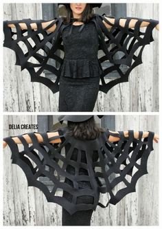 No Sew Cape- 25 DIY Halloween Costumes that will make you happy. | How Does She