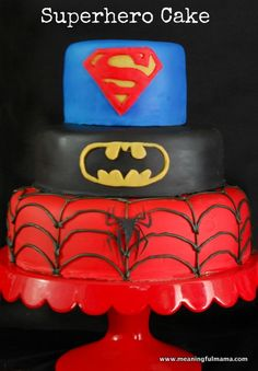 Superhero Cake Tutorial - Instructions so you can create this cake too